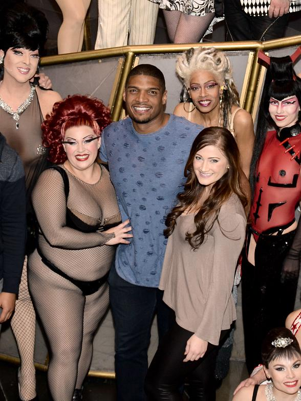 Pro Football Player Michael Sam at Zumanity by Cirque du Soleil
