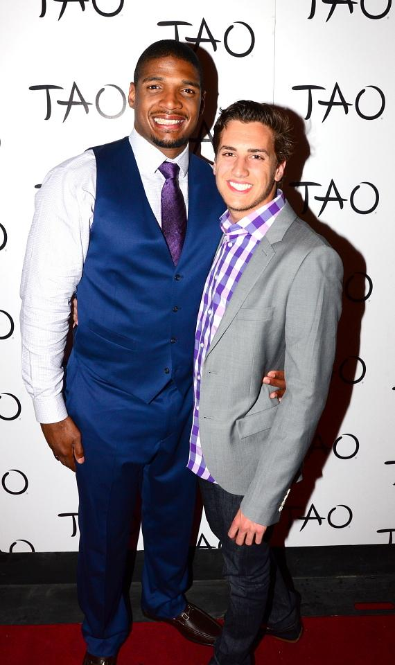 Michael Sam ad boyfriend Vito Cammisano on red carpet at TAO