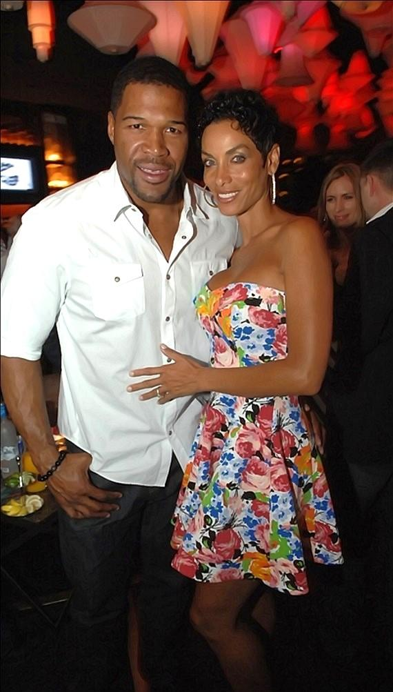 Michael Strahan and Nicole Murphy at Blush Boutique Nightclub