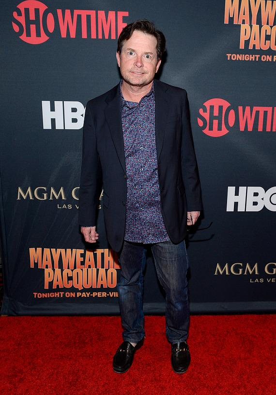 Michael J. Fox at pre-fight party