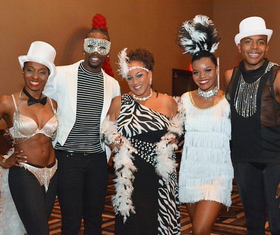 Michelle Johnson with her dancers