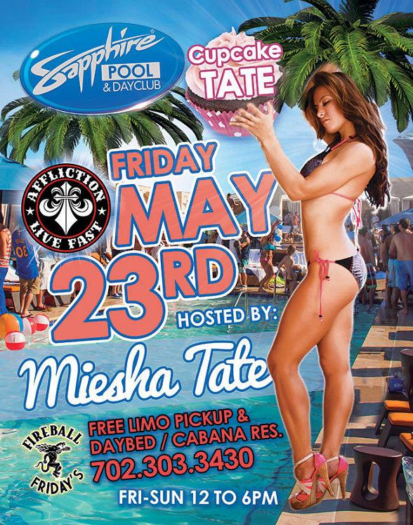 "Meet MMA Pro Miesha ""Cupcake"" Tate at Sapphire Pool & Day Club Friday, May 23"