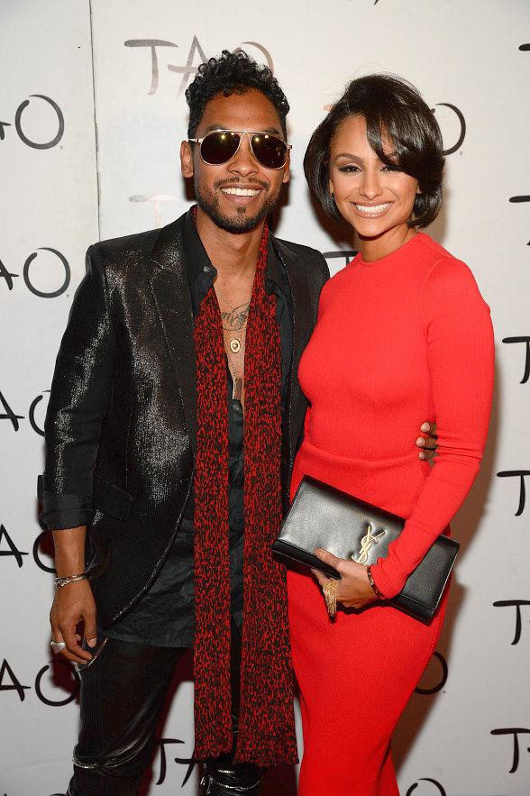 Miguel & Nazanin Mandi at TAO NYE Red Carpet