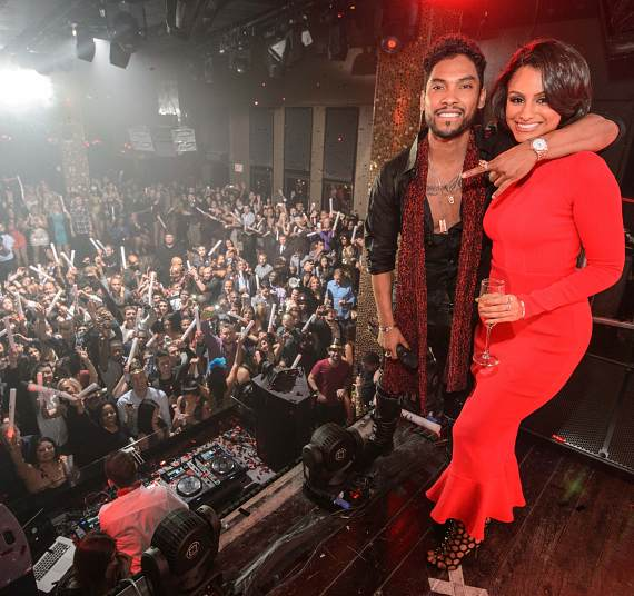 Miguel & Nazanin Mandi at TAO New Year's celebration