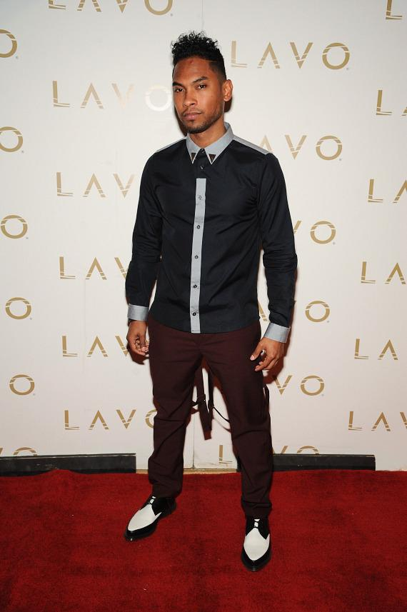 Miguel on red carpet at LAVO