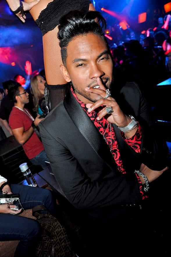 R&B Singer Miguel at LAVO Nightclub