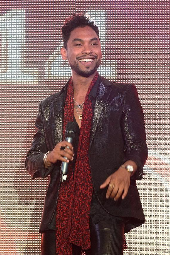 Miguel performs at TAO NYE party
