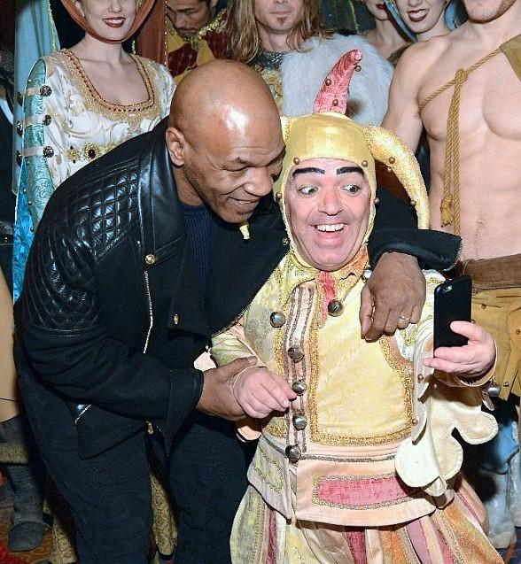 Boxing Legend Mike Tyson Attends Tournament of Kings at Excalibur