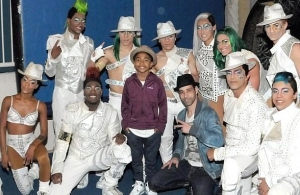 "Miles ""Baby Boogaloo"" Brown at Michael Jackson ONE and ""O"" by Cirque du Soleil"