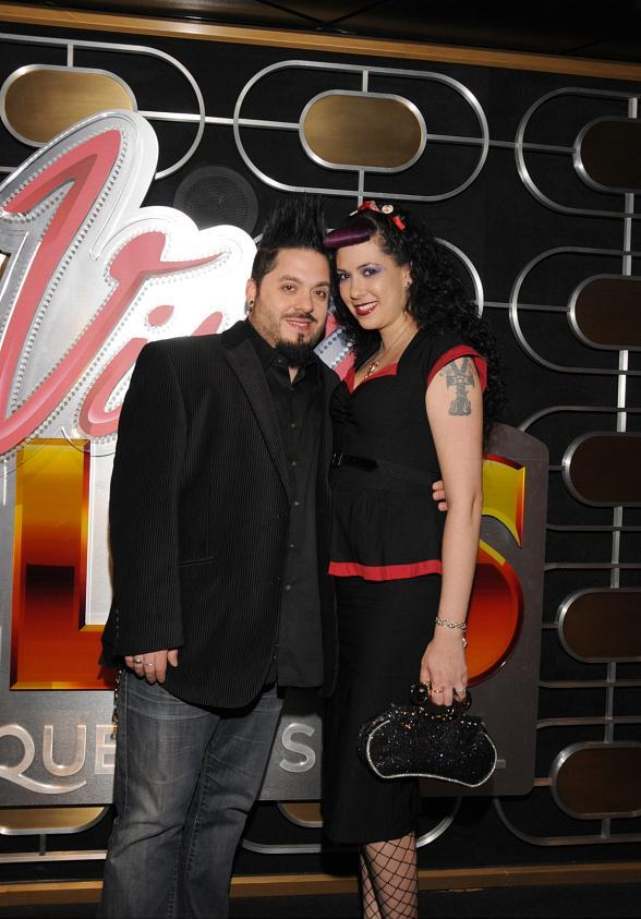 Destin Pfaff and Rachel Federoff of BRAVO TV's Millionaire Matchmaker attend Viva ELVIS by Cirque du Soleil