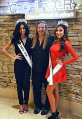 Miss Nevada USA 2015 Brittany McGowan and Miss Nevada Teen USA 2015 Geovanna Hilton Spotted at Color Salon