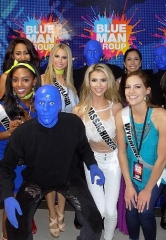 Miss USA Contestants at Blue Man Group inside Luxor Hotel and Casino