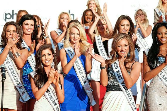 Miss USA 2012 contestants at Planet Hollywood in Las Vegas