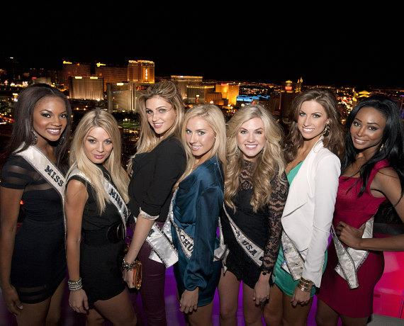 Miss USA contestants at  VooDoo Rooftop Nightclub