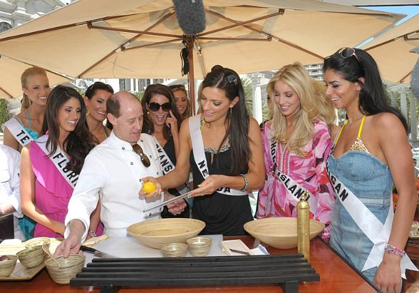 Miss USA Contestants Cook with Celebrity Chef Bradley Ogden at Caesars Palace