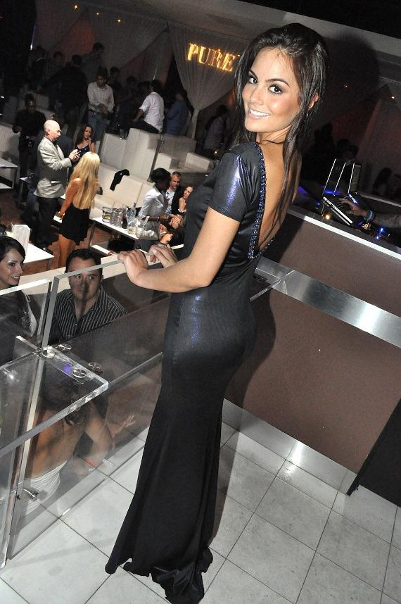 Miss Universe 2010 Ximena Navarrete at PURE Nightclub in Las Vegas