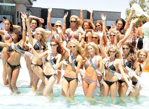 Miss USA 2011 contestants at Palms Place Hotel and Spa