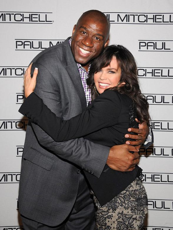 Magic Johnson and Marie Osmond