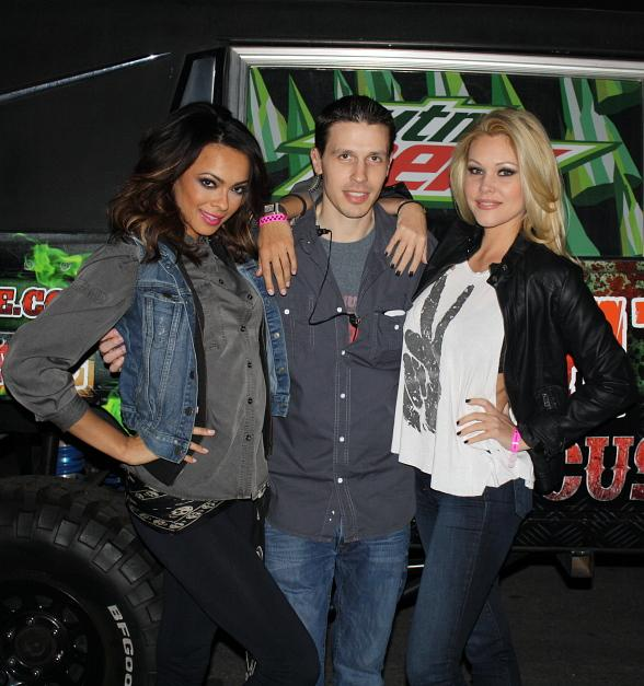 Jade Kelsall (Miss Nevada USA 2012) with Fright Dome creator Jason Egan and actress Shanna Moakler