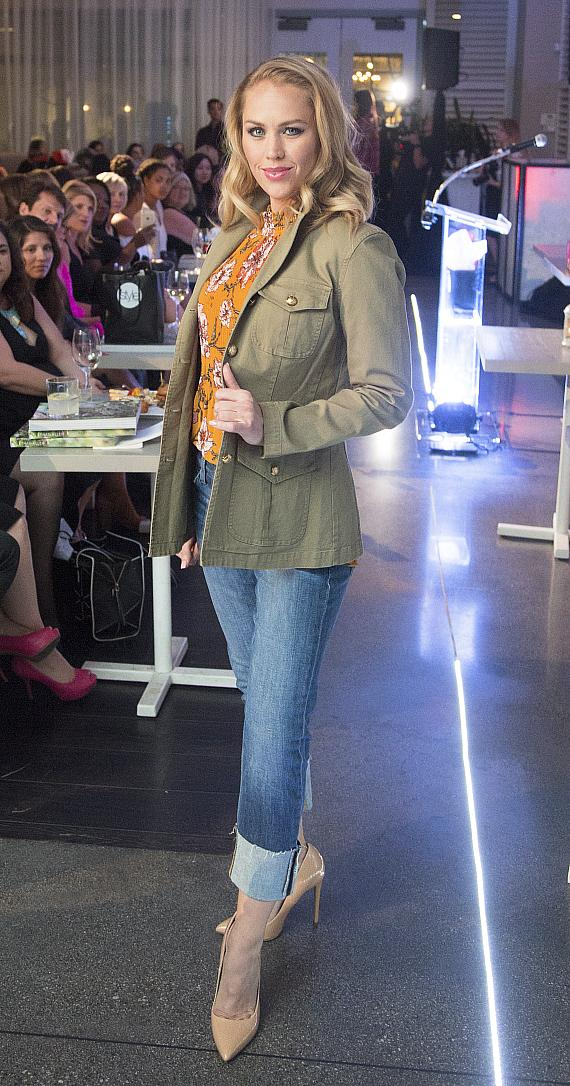 Models hit the runway wearing latest fall fashions