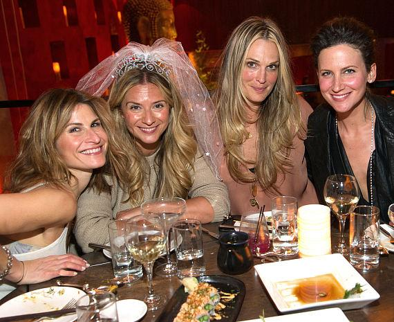 Molly Sims at TAO with friends for a bachelorette party