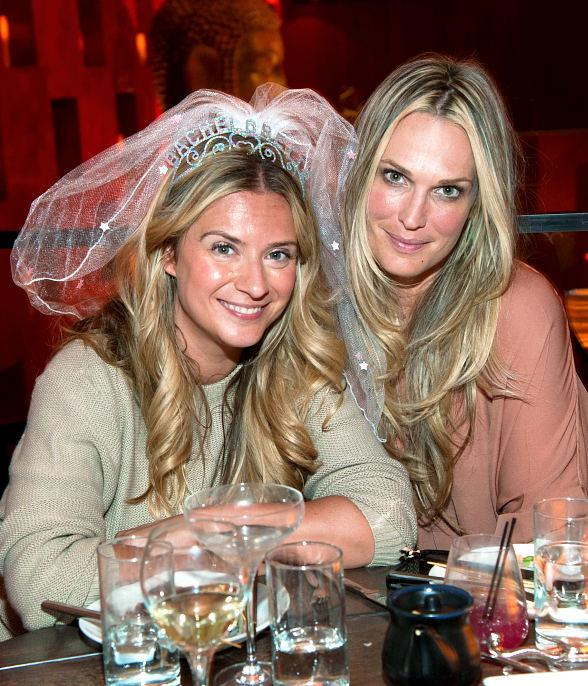 Molly Sims celebrates a friend