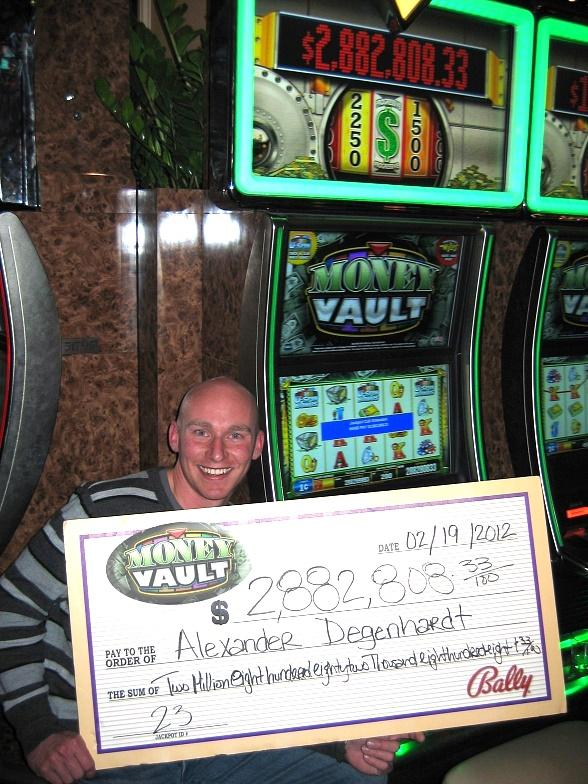 U.S. Marine Alexander Degenhardt won $2.9 million playing Bally Technologies