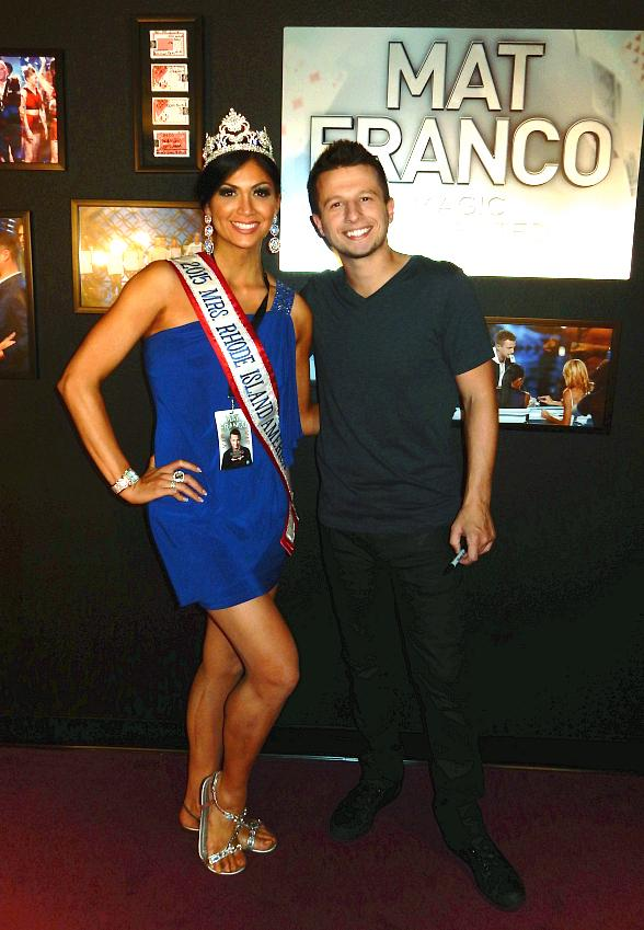"Mrs. Rhode Island America attends ""Mat Franco – Magic Reinvented Nightly"" at The LINQ Hotel & Casino"