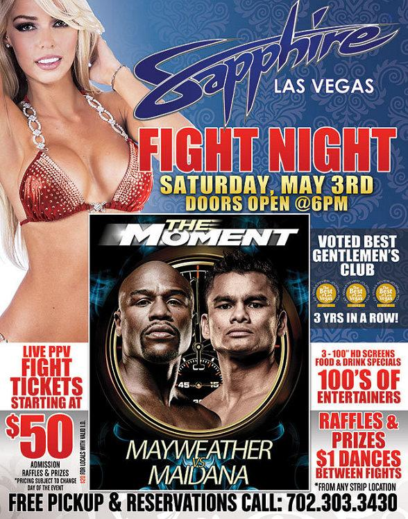 Watch Floyd Mayweather Jr. vs Marcos Maidana World Welterweight Championship at Sapphire Las Vegas May 3