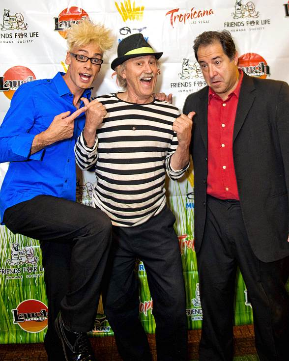 Murray SawChuck, comedian Gallagher and Harry Basil (part owner/performer of Laugh Factory)