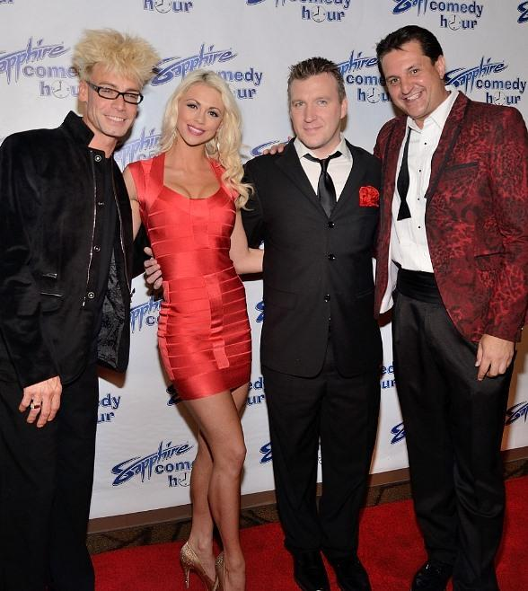 Celebrities and VIPs Celebrate Media Night at Sapphire Comedy Hour, the Sexiest New Comedy Show in Las Vegas