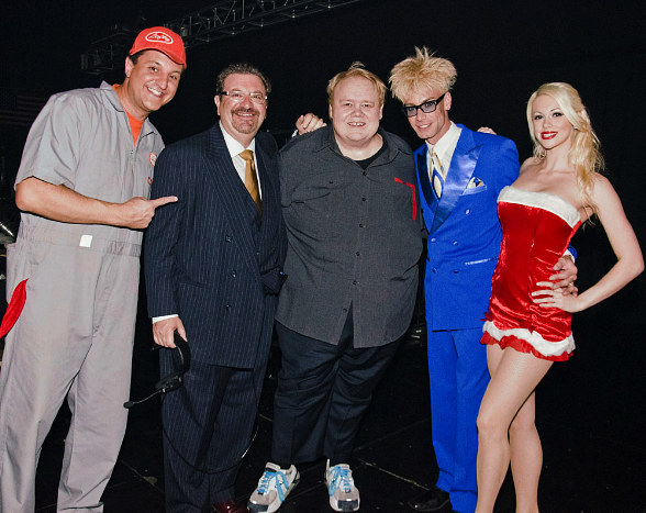 "Doug ""Lefty"" Leferovich, Jonathan Scott, Louie Anderson, Murray SawChuck, Chloe Crawford"