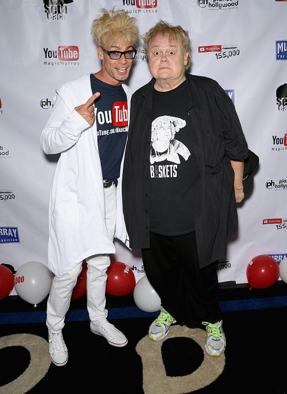 Murray SawChuck with Louie Anderson at his 100,000 YouTube Silver Creator Award Party in Las Vegas