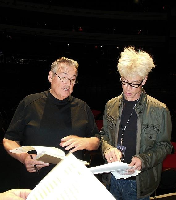 Murray with Live Nation Stage Manger Mick