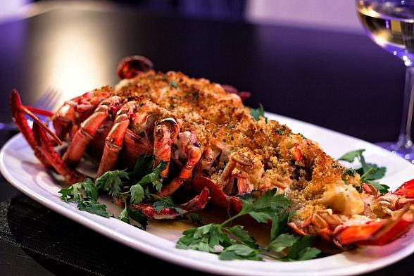N9NE Steakhouse Lobster Thermidor