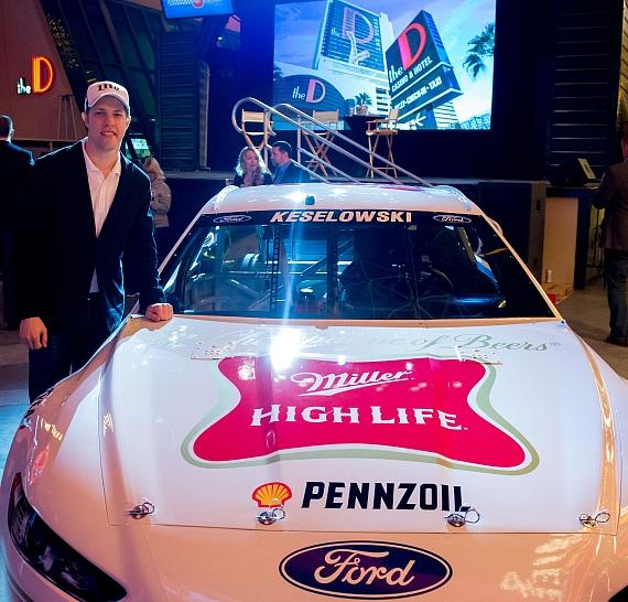 Brad Keselowski at MillerCoors' NASCAR event at the D on Fremont Street