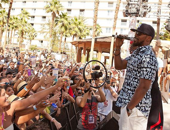 Jamie Foxx at Rehab Sundays at Hard Rock Hotel & Casino