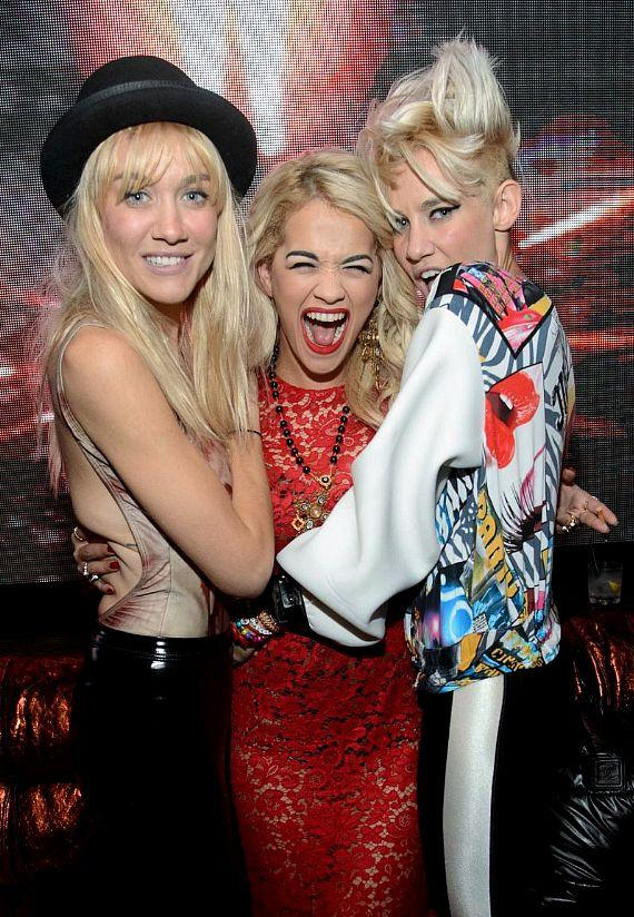 NERVO and Rita Ora at Hakkasan Nightclub