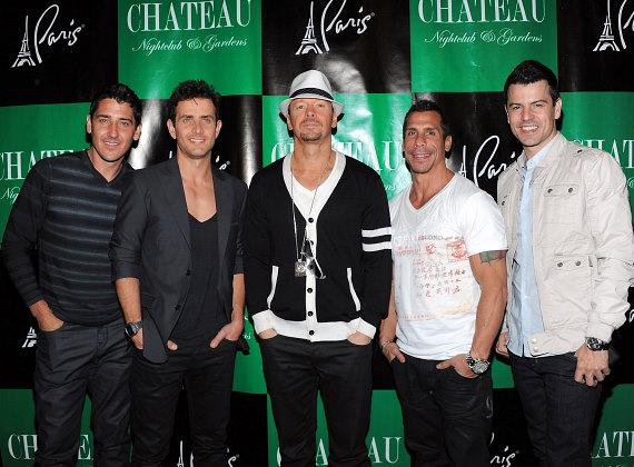 New Kids On The Block arrive at Chateau Nightclub & Gardens at Paris Las Vegas