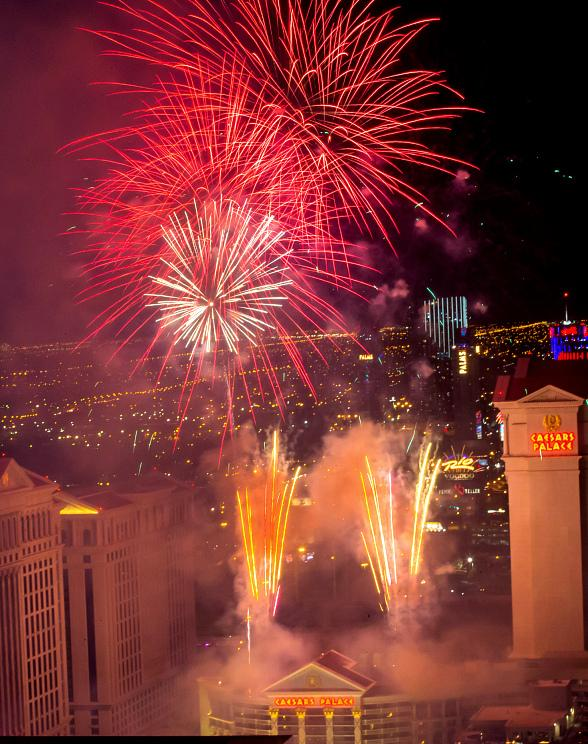 The High Roller Celebrates First New Year's Eve With Breathtaking Views of the Fireworks High A Top The World-Famous Las Vegas Strip