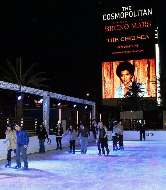 NYE celebration at The Ice Rink at The Cosmopolitan of Las Vegas