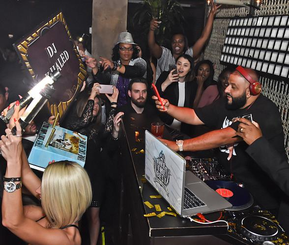 DJ Khaled performs at LAVO in The Palazzo on New Year's Eve
