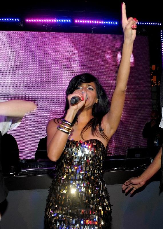 Nadia Ali sings hit single Pressure at Chateau Gardens