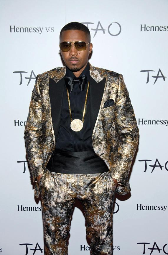 Nas on TAO Red Carpet
