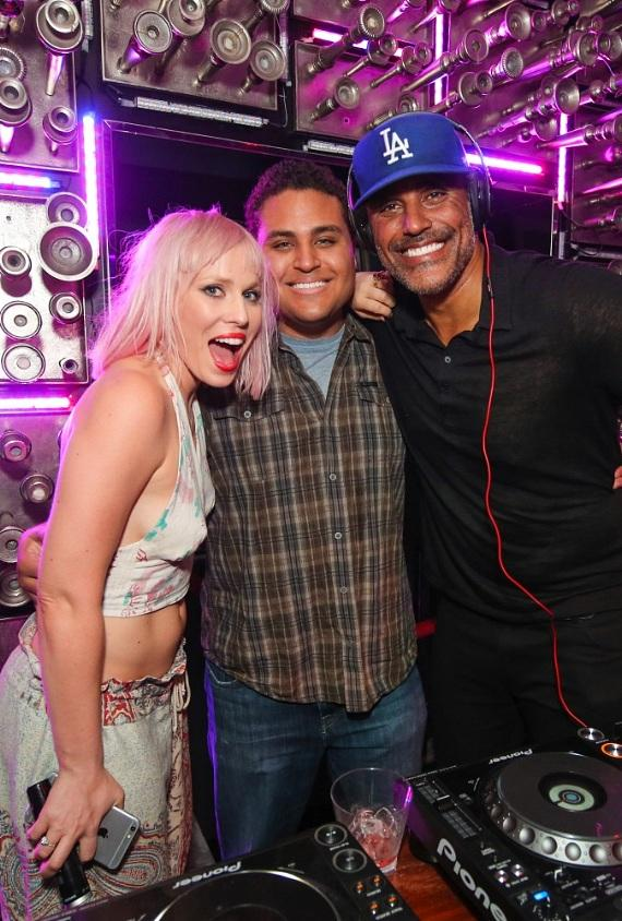 Natasha Bedingfield, Kyle Fox and Rick Fox at Hyde Bellagio