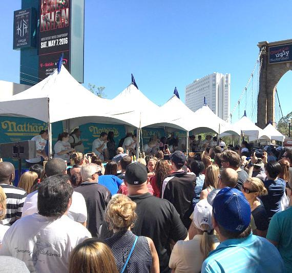 Nevada Champions Crowned at Nathan's Famous Hot Dog Eating Contest at New York-New York Hotel & Casin