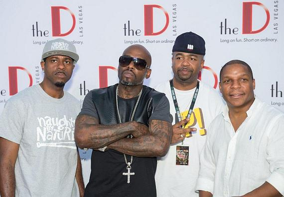 Naughty By Nature on the DLVEC red carpet
