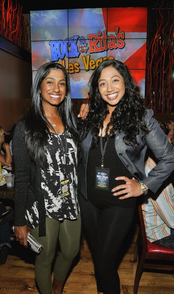 Golf stars Seema and Nisha Sadekar at the Rock & Rita's grand opening