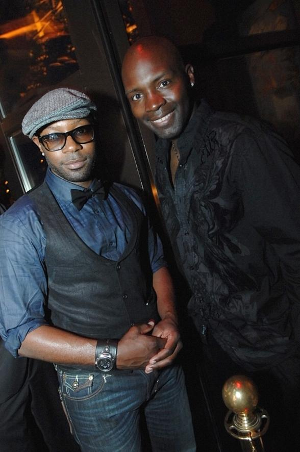 True Blood star Nelsan Ellis with his brother Maurice at Blush Boutique Nightclub