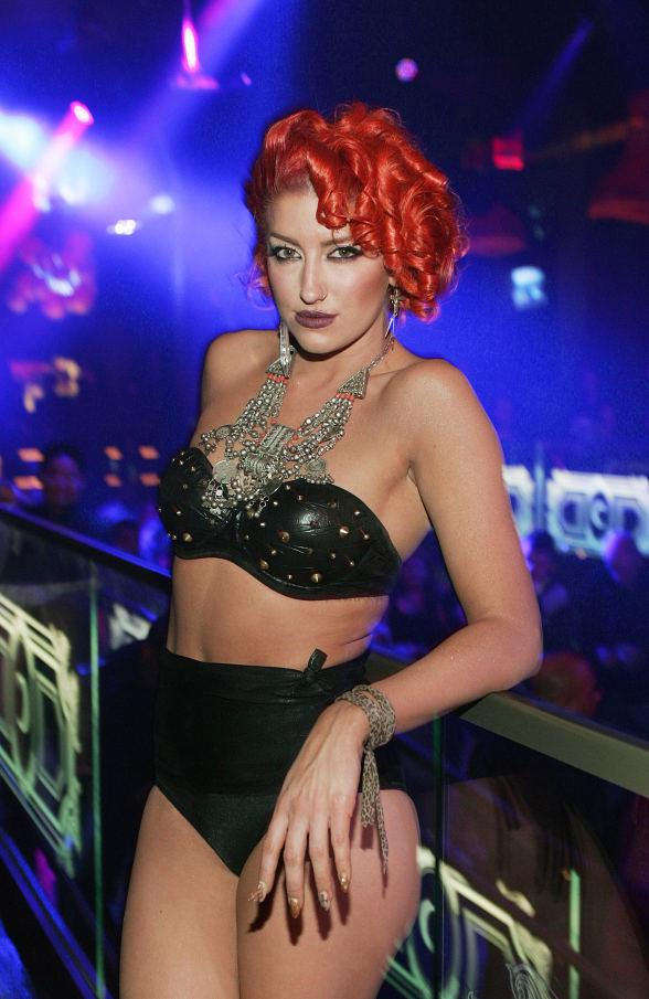 Neon Hitch poses in front of the crowd at Chateau Nightclub